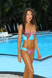 A model walks at the Profile and Blush Gottex presentation during MBFW Swim 2015 Royalty Free Stock Photos