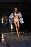 A model walks the runway Stock Images