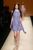 A model walks the runway during the Alberta Ferretti show as part of Milan Fashion Week Stock Photos