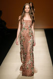 A model walks the runway during the Alberta Ferretti show as part of Milan Fashion Week Royalty Free Stock Image