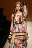A model walks the runway during the Alberta Ferretti show as part of Milan Fashion Week Royalty Free Stock Photography