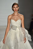 A model walks the runway during the Amsale Fall/Winter 2016 Couture Bridal Collection runway show Royalty Free Stock Photos
