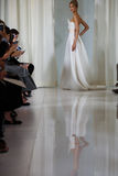 A model walks the runway during the Angel Sanchez Bridal Fall/Winter 2016 Runway Show Stock Images