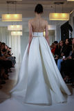 A model walks the runway during the Angel Sanchez Bridal Fall/Winter 2016 Runway Show Royalty Free Stock Photos