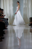A model walks the runway during the Angel Sanchez Bridal Fall/Winter 2016 Runway Show Stock Photo