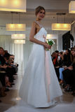 A model walks the runway during the Angel Sanchez Bridal Fall/Winter 2016 Runway Show Stock Image