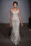 A model walks the runway at the Anna Maier / Ulla-Maija Couture Bridal Spring/Summer 2016 Runway Show Stock Photo