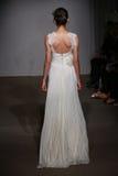 A model walks the runway at the Anna Maier / Ulla-Maija Couture Bridal Spring/Summer 2016 Runway Show Stock Images