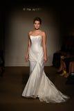 A model walks the runway at the Anna Mayer Spring 2015 Bridal show Royalty Free Stock Photo