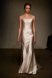 A model walks the runway at the Anna Mayer Spring 2015 Bridal show Stock Image