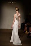A model walks the runway at the Anna Mayer Spring 2015 Bridal show Stock Photos