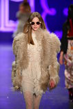 A model walks the runway at the Anna Sui Fall 2016 show Royalty Free Stock Image