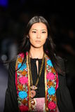A model walks the runway at the Anna Sui Fall 2016 show Royalty Free Stock Images