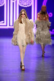 A model walks the runway at the Anna Sui Fall 2016 show Stock Photos