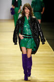 A model walks the runway during the Barbara Bui show Royalty Free Stock Image