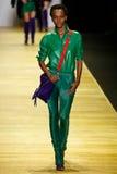 A model walks the runway during the Barbara Bui show Stock Photos