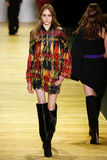 A model walks the runway during the Barbara Bui show Royalty Free Stock Photography