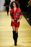 A model walks the runway during the Barbara Bui show Stock Image