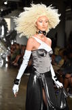 A model walks the runway at The Blonds fashion show Royalty Free Stock Images