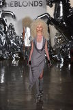 A model walks the runway at The Blonds fashion show Royalty Free Stock Photos