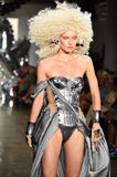 A model walks the runway at The Blonds fashion show Stock Photography