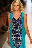 A model walks the runway at the Caffe Swimwear during MBFW Swim 2015 Stock Photos