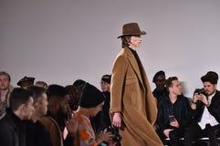 A model walks the runway at Carlos Campos fashion show during the New York Fashion Week Men's Fall/Winter 2016 Stock Photos