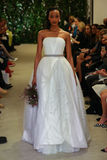 A model walks the runway at the Carolina Herrera Bridal Spring/Summer 2016 Runway Show
