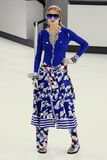 A model walks the runway during the Chanel show Royalty Free Stock Image