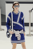 A model walks the runway during the Chanel show Royalty Free Stock Photo