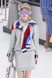A model walks the runway during the Chanel show Stock Image