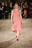 A model walks the runway for the Christian Siriano collection Royalty Free Stock Image