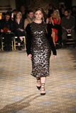 A model walks the runway for the Christian Siriano collection Royalty Free Stock Photo