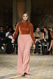 A model walks the runway for the Christian Siriano collection Stock Image
