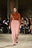 A model walks the runway for the Christian Siriano collection Stock Photo