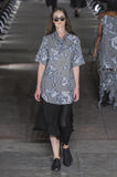 A model walks the runway during the Damir Doma fashion show Royalty Free Stock Image