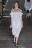A model walks the runway during the Damir Doma fashion show Stock Photo