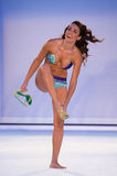 A model walks runway in designer swim apparel during Babalu - Protela Colombian Brands fashion show Stock Photos