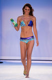 A model walks runway in designer swim apparel during Babalu - Protela Colombian Brands fashion show Stock Images