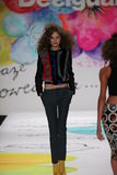A model walks the runway at the Desigual fashion show during Mercedes-Benz Fashion Week Fall 2015 Stock Photography