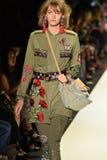 A model walks the runway at Desigual fashion show Stock Photography