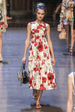 A model walks the runway during the Dolce and Gabbana show Stock Images