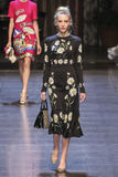 A model walks the runway during the Dolce and Gabbana show Royalty Free Stock Photography