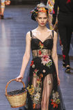 A model walks the runway during the Dolce and Gabbana show Stock Image
