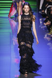 A model walks the runway during the Elie Saab show Royalty Free Stock Images