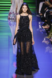 A model walks the runway during the Elie Saab show Royalty Free Stock Photos