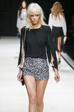 A model walks the runway during the Elisabetta Franchi fashion show Stock Photography