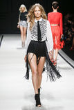 A model walks the runway during the Elisabetta Franchi fashion show Royalty Free Stock Photography