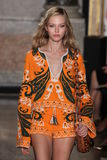A model walks the runway at the Emilio Pucci show as a part of Milan Fashion Week Royalty Free Stock Photos