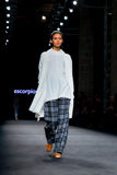 A model walks the runway for the Escorpion collection Stock Photography